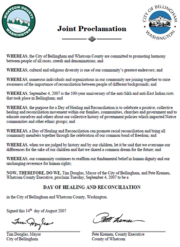Bellingham-2007-day-of-healing-and-reconciliation-joing-proclamation